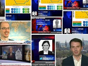Montage of Oxford Analytica's media appearances
