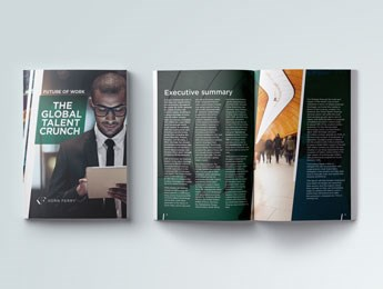 Korn Ferry Global Talent Crunch front cover and detail