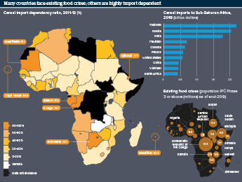 Infographic exploring food security across Africa