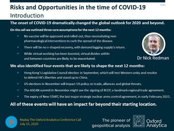 Introductory slide from COVID-19 deck