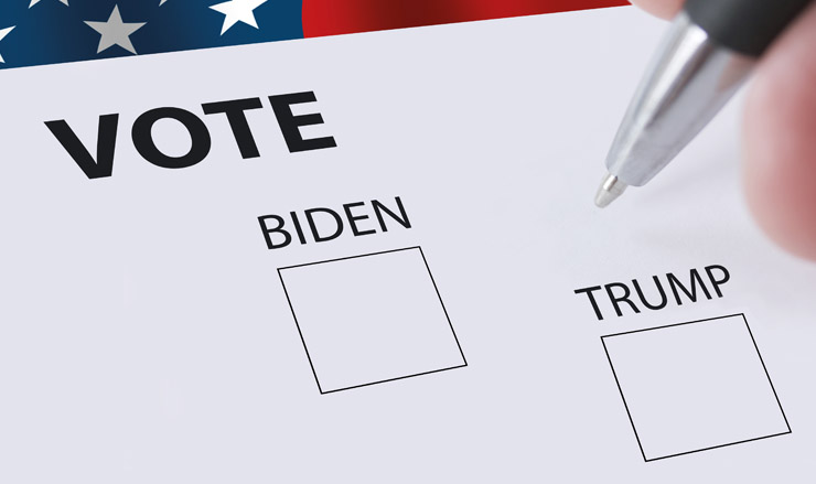 Biden vs Trump vote